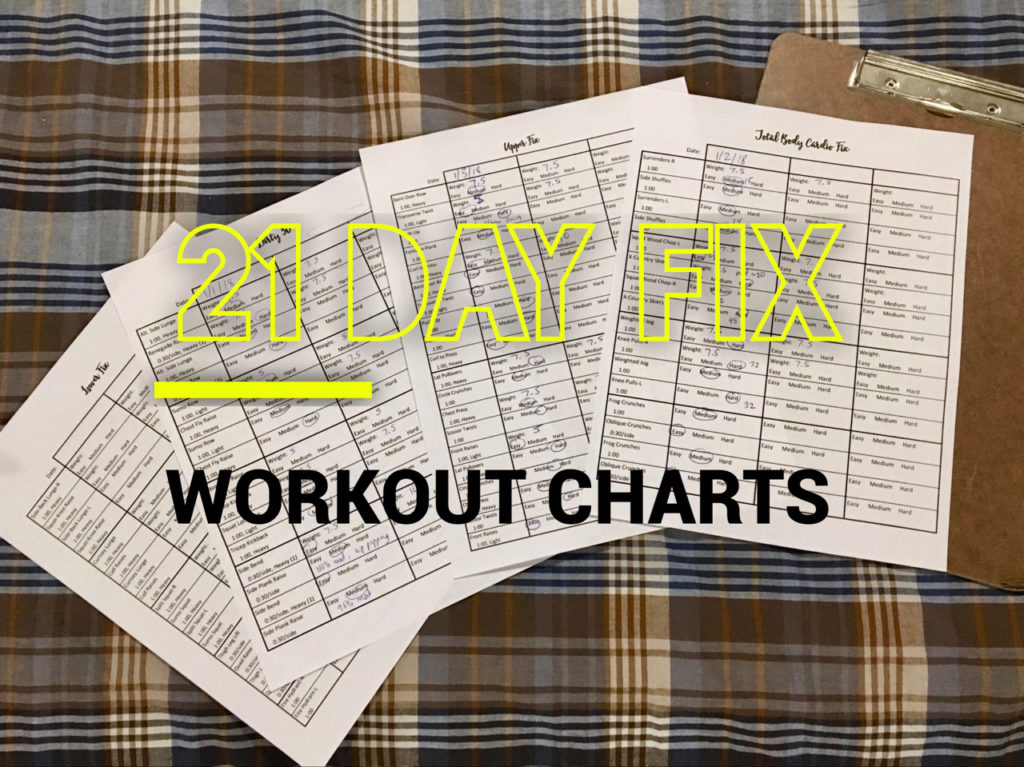 picture about 21 Day Fix Chart Printable named 21 Working day Mend Work out Charts Erin Knight
